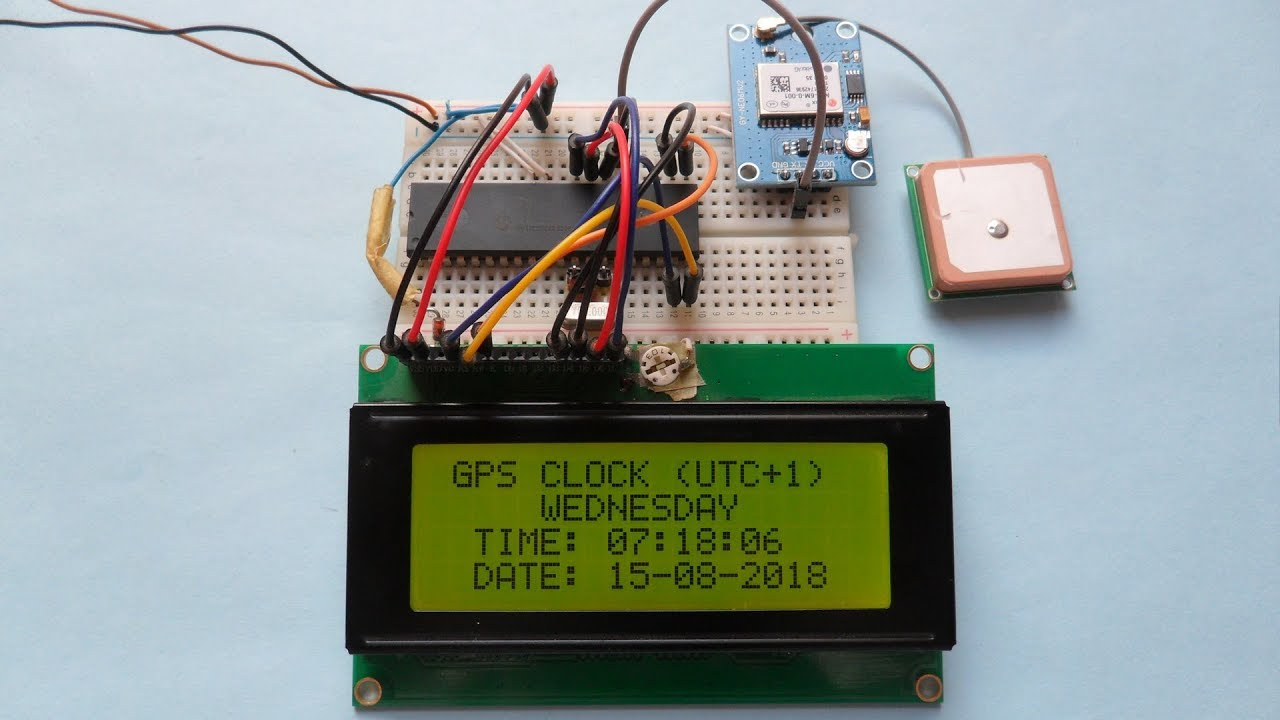 Arduino GPS clock with local time using NEO-6M module - Simple Projects