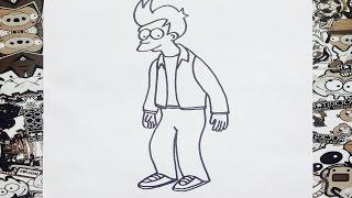 Como dibujar a fry futurama   how to draw fry from futurama