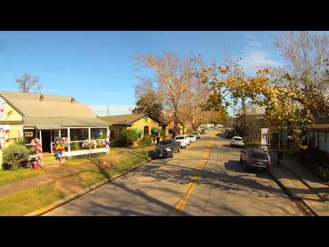 Low Flight Through Old Town Spring Texas