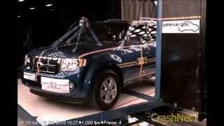 Ford Escape   2011   Pole Crash Test   NHTSA   CrashNet1