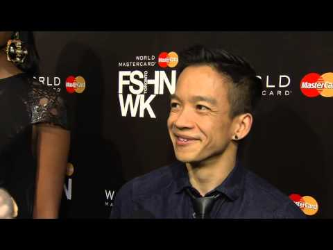 Sunny Fong discusses VAWK label during Toronto Fashion Week