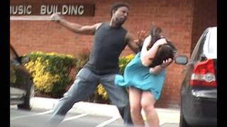 Repeat youtube video Stupid guy hits girlfriend!
