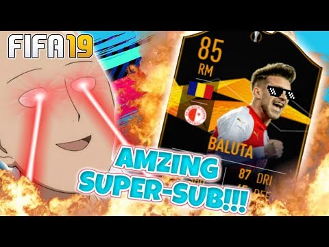 (WOW!) THE BEST SUPER SUB IN FIFA 19!!? | EUROPA LEAGUE SBC BALUTA PLAYER REVIEW FIFA 19
