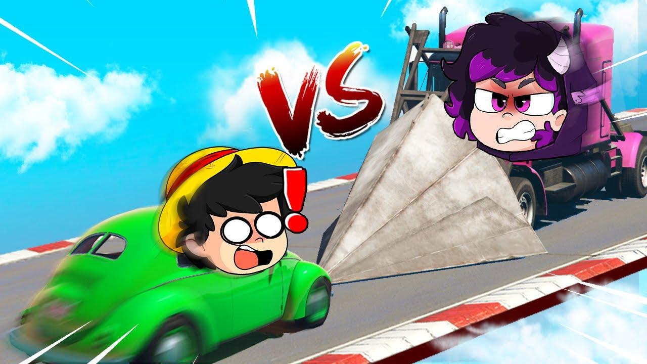 ¡AUTO NOOB vs DESTRUCTOR DE AUTOS! 😱💥 GTA 5 CARA a CARA con LOS PANAS