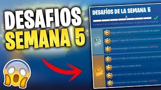 ✅Desafíos Semana 5 (Temporada 5) en DIRECTO - Fortnite PS4✅