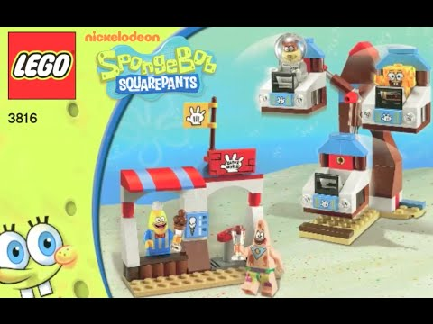 How To Build Lego Spongebob Glove World 3816 Instructions Youtube