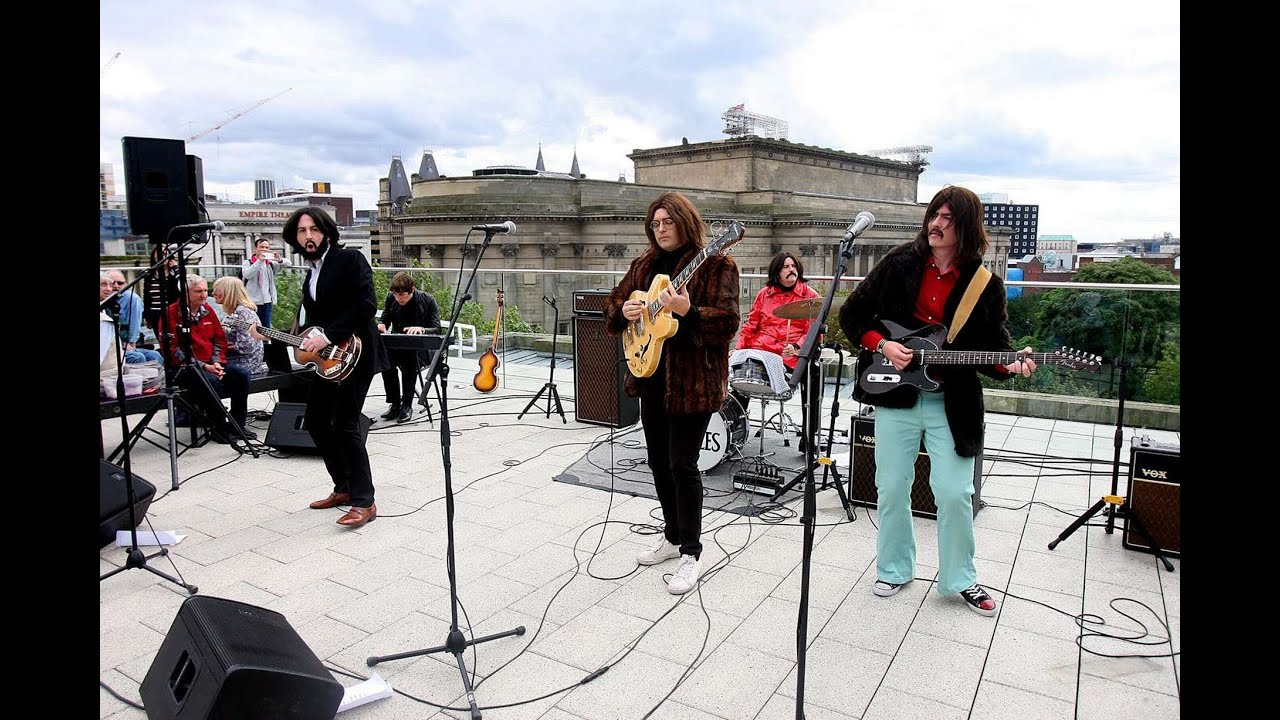 Them Beatles Rooftop Show Liverpool Central Library Beatleweek 2015 Youtube