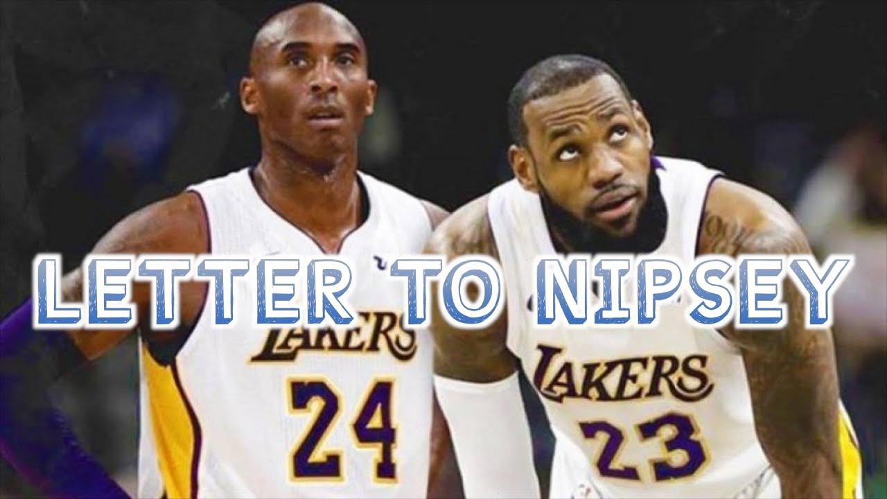 Lebron James x Kobe Bryant - Letter To Nipsey (EMOTIONAL) #LongLiveTyMoney