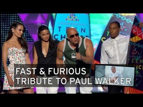 Vin Diesel rinde homenaje a Paul Walker [Subtitulado]