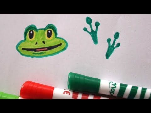 Fuß Abdruck vom Frosch zeichnen - How to draw Frog Foot ...
