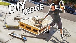 HOW TO MAKE DIY SKATEPARK LEDGE for Beginners in 3 Hours