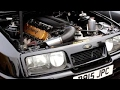 Ford Sierra Cosworth With 600BHP 8.3L V10 From a Viper Revving