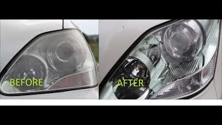 Polishing Foggy Headlights DIY - Matte Scheinwerfer Polieren Lexus Toyota Mercedes BMW 3M