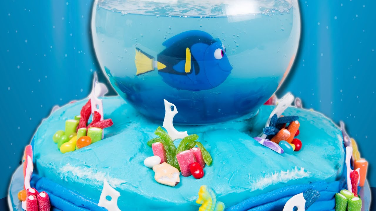 How to make a Finding Dory Cake Finding Nemo Cake from Cookies
