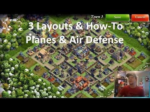 DomiNations - How to Planes & Air D - 3 Base Layouts - Forum Chatter