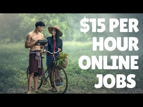 5 Online Jobs Paying Up To $15 An Hour. Worldwide Jobs!