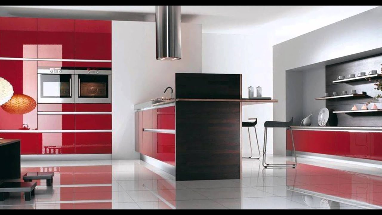 Creative Kitchen Design, Black, Red, White   YouTube