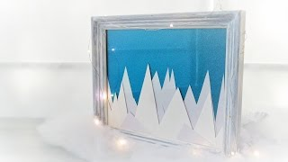 DIY Winter Picture Frame Decor - Upcycle
