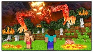 IL MOSTRO DI LAVA ATTACCA LA CASA DI NOOB! - Minecraft ITA