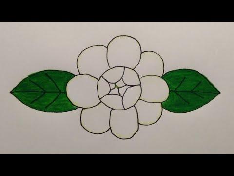 วาดรูปมะลิแบบง่ายวันแม่ 😊 Drawing Jasmine Flower for beginer | My Sky Channel.