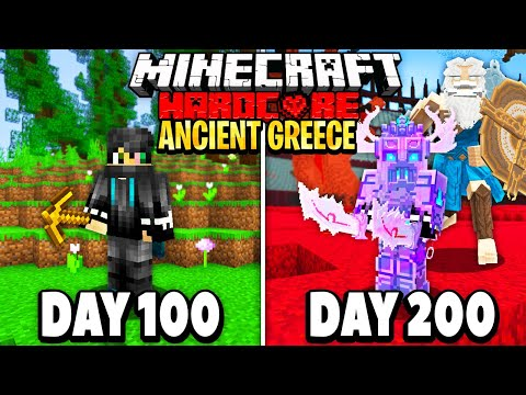 I Survived 200 Days in Ancient Greece on Minecraft.. Here's What Happened..