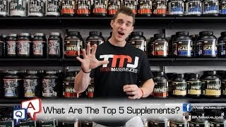 What Are the Top 5 Supplements To Build Muscle and Burn Fat In 2014? MassiveJoes.com MJ Q&A(Buy ON 100% Whey Gold Standard: http://massivejoes.com/shop/optimum-nutrition-gold-standard-100-whey Buy EHPlabs Beyond BCAA: ..., 2014-06-16T03:12:02.000Z)