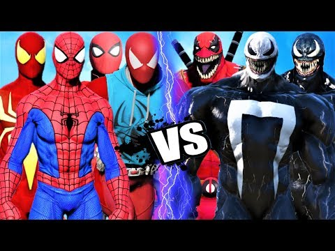 TEAM SPIDER-MAN vs TEAM VENOM - EPIC BATTLE