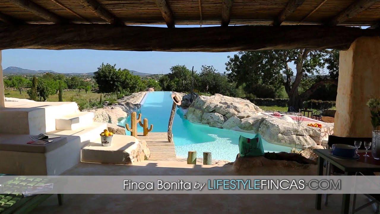 Mallorca ferienhaus luxus finca bonita im ibiza stil mit xxl pool youtube - Formentera ferienhaus mit pool ...