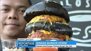Sensasi Burger Hitam Raksasa
