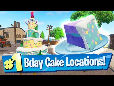 Fortnite All Birthday Cake Locations -