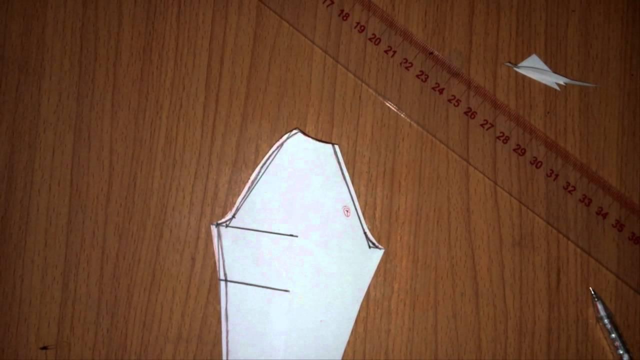 Cách cắt  tay raglan (áo dài)_ How to cut raglan sleeve
