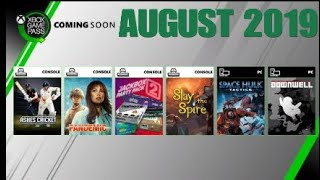 Xbox Game Pass August 2019 | PC | Game Pass Ultimate