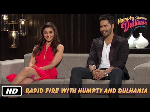 Rapid Fire with Humpty and Dulhania - Karan Johar, Varun Dhawan, Alia Bhatt Mp3