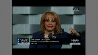 Gabby Giffords addresses the Democratic National Convention 2016