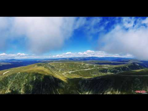 Drone flight over southern Carpathians