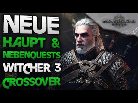 The Witcher 3 Crossover DLC – Alle neuen Haupt & Nebenquests – Monster Hunter World Deutsch thumbnail
