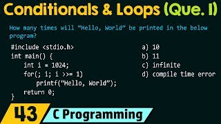Conditionals and Loops (Solved Problem 1)