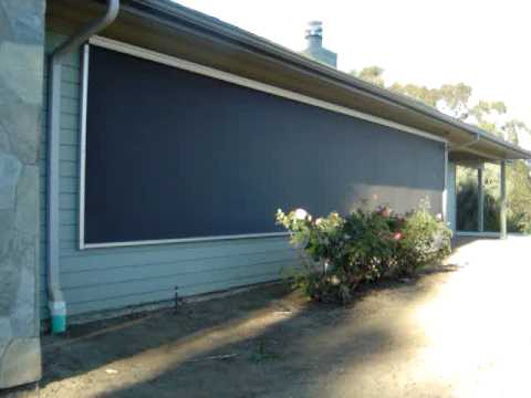 Motorized Exterior Screen Solar Shade By 3 Blind Mice