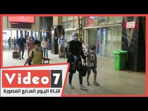 ارتداء الاطفال الكمامة بمحطات السكة الحديد  - 14:59-2020 / 5 / 30