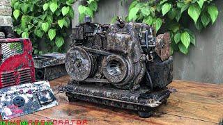 Restoration Generator SHIBAURA Rusty | Restore Engine 2 Stroke Shibaura