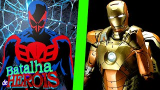 Minecraft : SPIDER-MAN DO FUTURO vs IRON MAN DOURADO - BATALHA DE HEROI