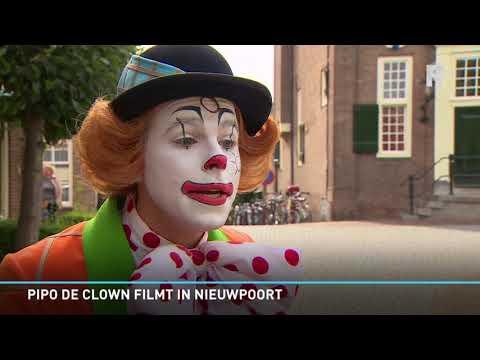 Pipo de Clown filmt in Nieuwpoort