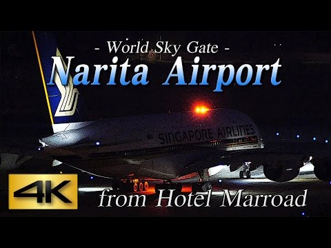 【4K】1Hour Spotting @Narita Marroad Hotel #4 June 12, 2015 the Amazing Airport Spotting