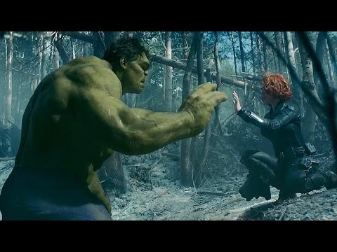 Black Widow Tames Hulk - Avengers: Age of...