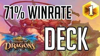 Insane 71% (22-9) Winrate Deck | How to Play Highlander Secret Hunter | Descent of Dragons