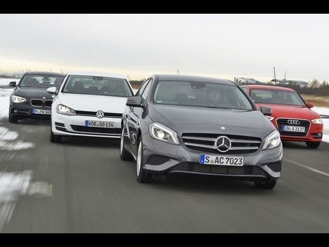 Audi A3, Mercedes A Klasse, VW Golf, BMW 116d Kompakte deutsche Spardiesel