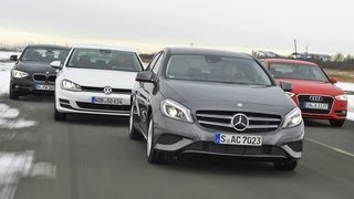 Audi A3, Mercedes A-Klasse, VW Golf, BMW 116d - Kompakte deutsche Spardiesel