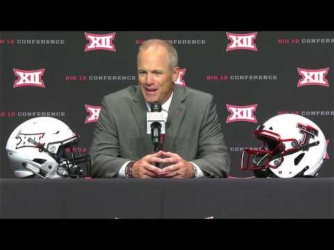 Texas Tech Football: Matt Wells 2019 Big 12 Media Day Press Conference