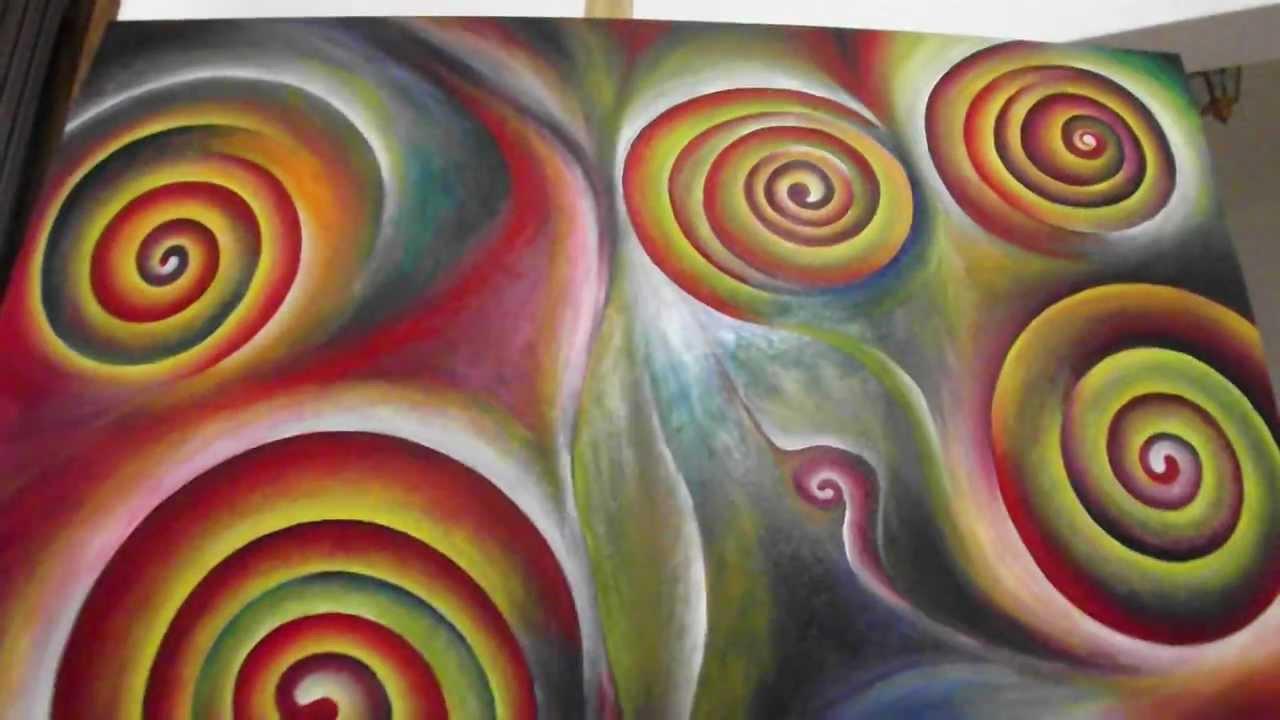 Pintura al leo abstracto moderno youtube for Imagenes de cuadros abstractos faciles