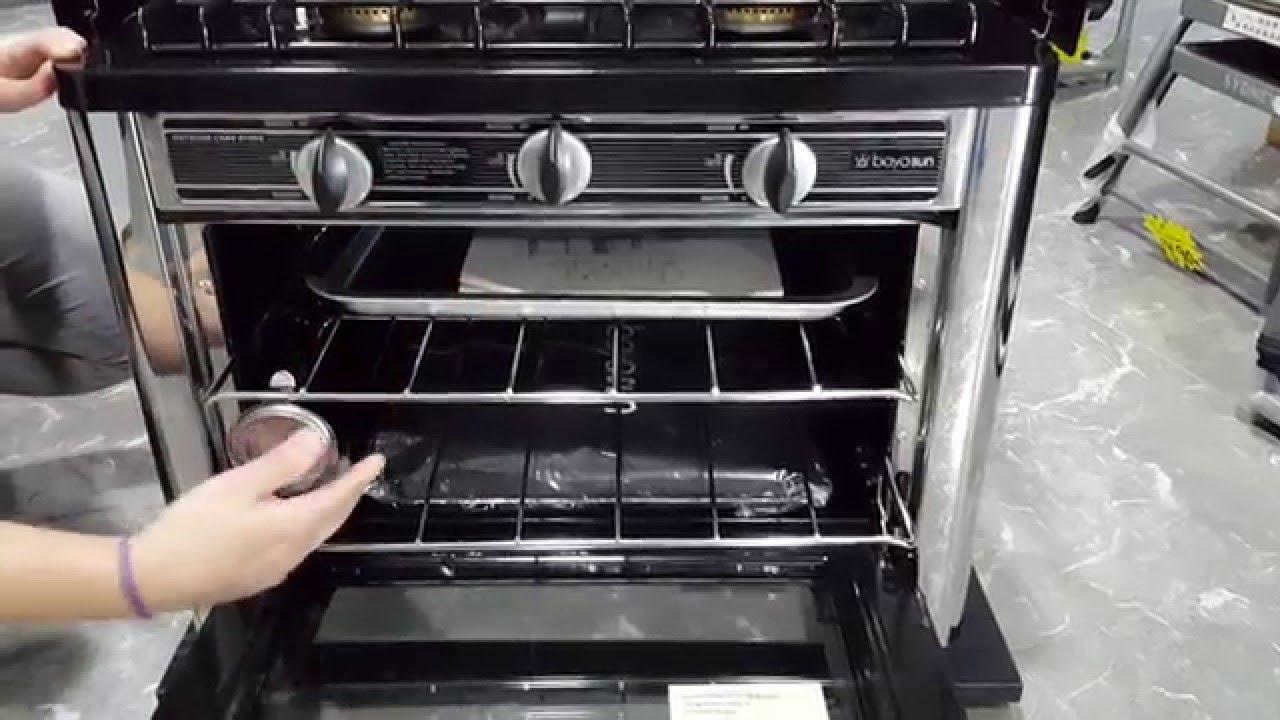 Horno con cocina portatil para camping - YouTube